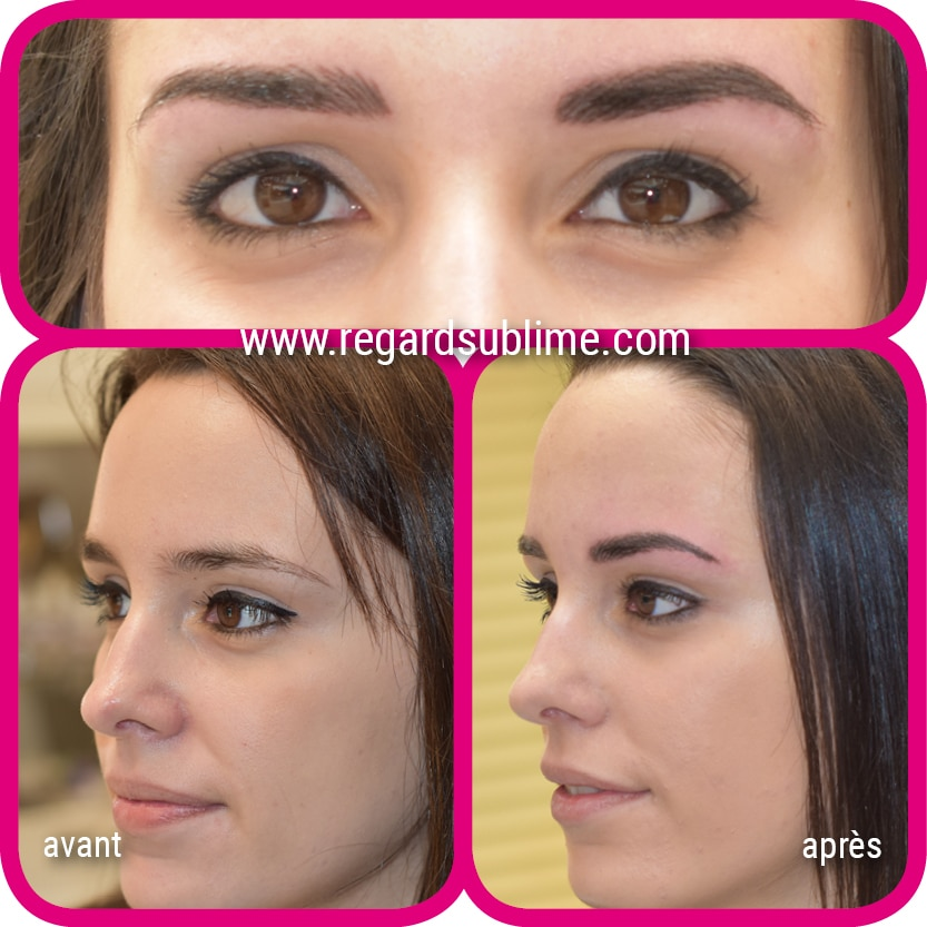 Maquillage permanent des sourcils - technique ombrage